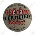 """Geocoin """"Addict"""" - Silver"""
