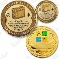 Geo Achievement® 4000 Finds - Coin + Pin's
