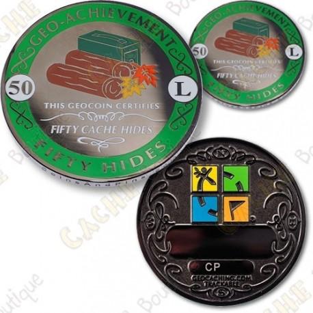 Geo Achievement 50 Hides - Coin + Pin