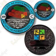 Geo Achievement® 100 Hides - Coin + Pin's