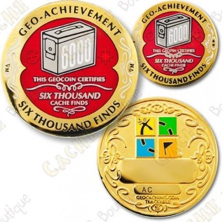 Geo Achievement 6000 Finds - Coin + Pin