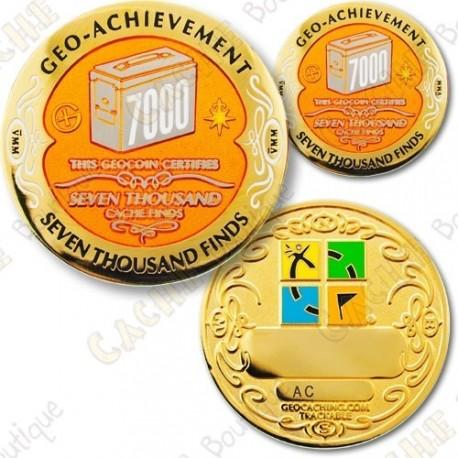 Geo Achievement 7000 Finds - Coin + Pin