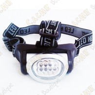 Lampe frontale 8 LED