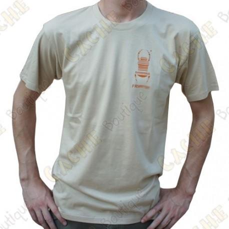 "Trackable ""Travel Bug"" T-shirt for Men - Sand"