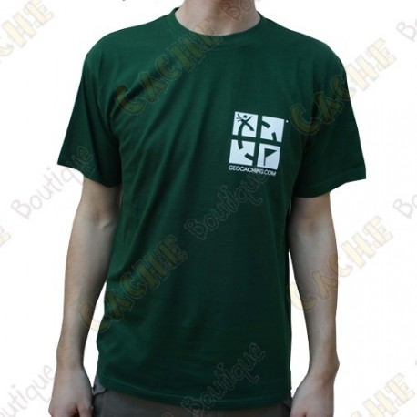 "Trackable ""Discover me"" T-shirt for Men - Green"