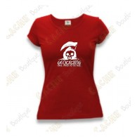 "T-Shirt ""Until Death Do Us Part"" Mulheres - Vermelho"