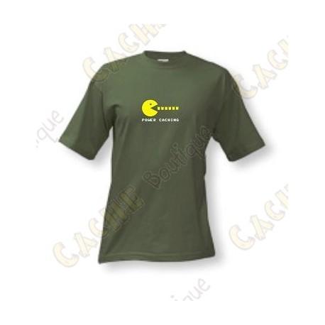 "T-Shirt ""Power caching"" Homens - Caqui"
