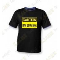 """T-Shirt """"Caution"""" Homme - Noir"""