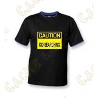 """T-Shirt """"Caution"""" Enfant - Noir"""