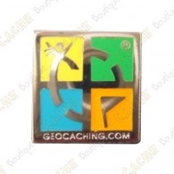 Pin's Geocaching.com - Argent
