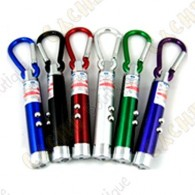 Laser, UV and Led lamp carabiner