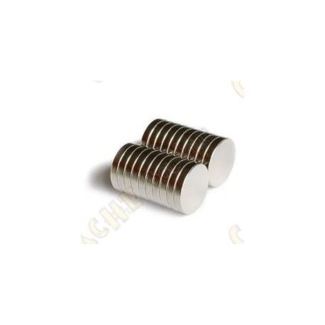 Ímanes neodimios 12mm - Conjunto de 5