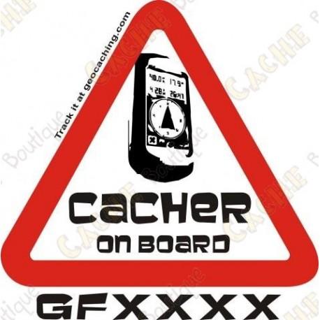 "Sticker ""Cacher opn board"" trackable"