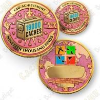 Geo Achievement® 19 000 Finds - Coin + Pin's