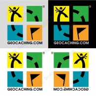 Mini stickers Geocaching - Lot de 4