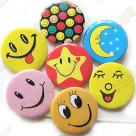 "Badge ""Smiley & co"" X 10"