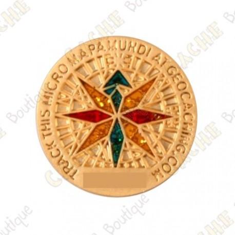 """Micro Coin """"Mapamundi"""" - Gold"""