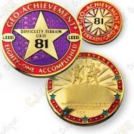 Geo Achievement® Difficulty Terrain 81 Grid - Coin + Pin's