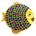 "Geocoin ""Rainbow Fish"" - Grape Gold LE"