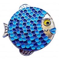 """Géocoin """"Rainbow Fish"""" - Boyly Silver LE"""