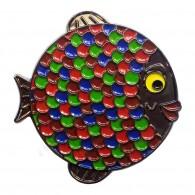 """Geocoin """"Rainbow Fish"""" - Coral Black Nickel LE"""