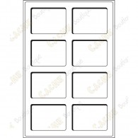 Plateau L pour géocoins 64 x 86 mm - 8 cases
