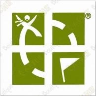 Grande sticker Groundspeak - Verde
