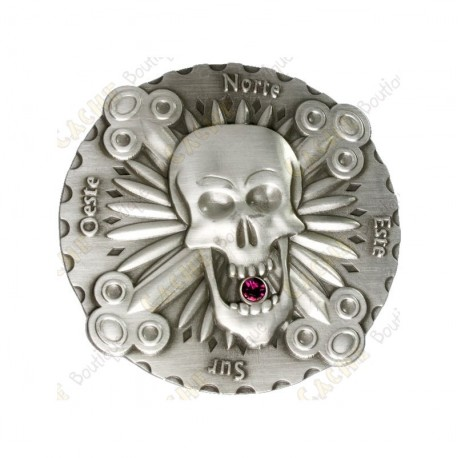 "Geocoin ""Bones & Jewels"" - Antique Silver"