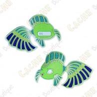 """Géocoin """"Dream Fish"""" - Vert"""