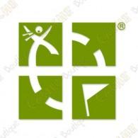 Logo géocaching Groundspeak à placer à l'extérieur de votre véhicule.