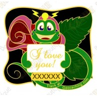 """Geocoin """"Signal the Frog® Rose"""""""