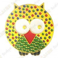 "Géocoin ""Dotted Owl"" - Spring - Gold LE"