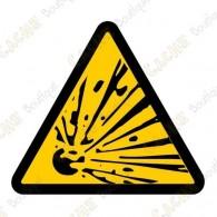 """Cache """"Danger d'explosion"""""""