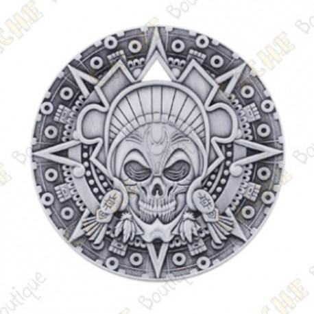 """Géocoin """"Bones & Jewels"""" - Antique Silver"""