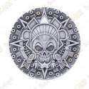 "Géocoin ""Aztec Pirate"" - Antique Silver"