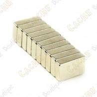 Ímanes neodimios 10x6x2mm - Conjunto de 5