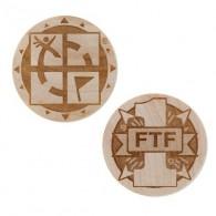 Géocoin en bois - FTF