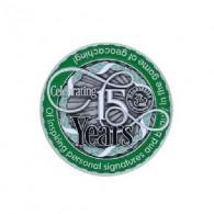 "Géocoin ""Moun10Bike 15 Year Tribute"""