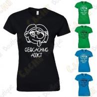 "T-Shirt ""Geocaching Addict"" Femme"