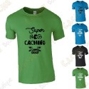"T-Shirt ""Super Geocaching Dad"" Homme"