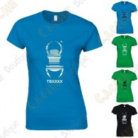 "T-Shirt trackable ""Travel Bug"" Femme - Noir"