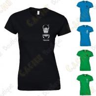 T-Shirt trackable avec votre Pseudo, Femme - Noir