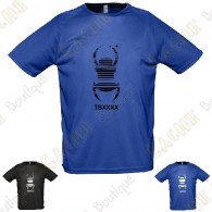 "T-Shirt technique trackable ""Travel Bug"" Homme - Noir"