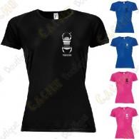 T-Shirt technique trackable avec votre Pseudo, Femme - Noir