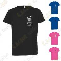 T-Shirt technique trackable avec votre Pseudo, Enfant - Noir