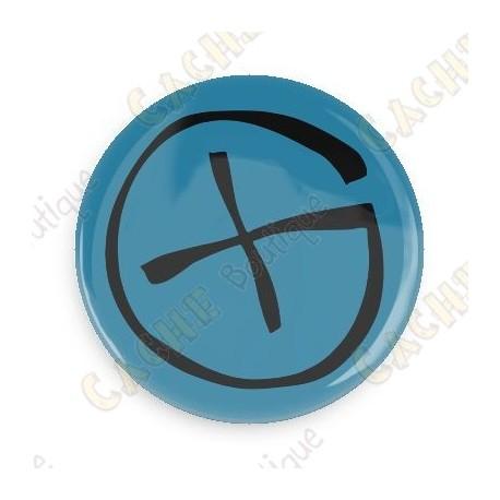 Badge Geocaching - Bleu