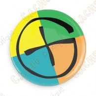 Badge Geocaching - Quadricolor