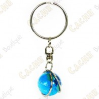 Key ring for trackable marble