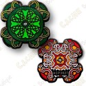 "Geocoin ""Celtic lucky clover"""
