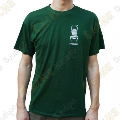 "Trackable ""Travel Bug"" T-shirt for Men - Green"